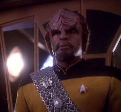 "Worf in Season 3, ep 1(&2), ""The Way of the Warrior"""