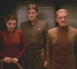 "Odo spends a lot of time having that look. Season Four, Ep 13, ""Crossfire""."