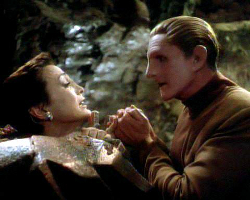 "Odo's dilemma, Season 3, Ep 14: ""Heart of Stone"""