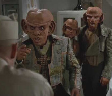 "Initial communication attempts. DS9, Season Four, Ep 8: ""Little Green Men"""