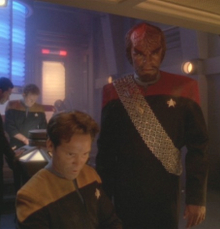 "Worf and enlisted men = challenges. DS9, Season Four, Ep 7: ""Starship Down"""