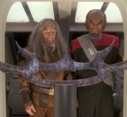 "DS9, Season 4, Ep 9: ""The Sword of Kahless"""