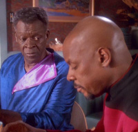 "Joseph Sisko and son, from Season Four, Ep 11, ""Homefront"""